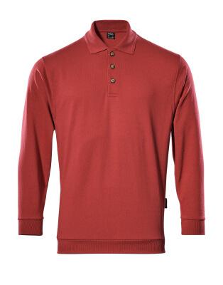 MASCOT® Trinidad Polo-sweatshirt Größe L, rot