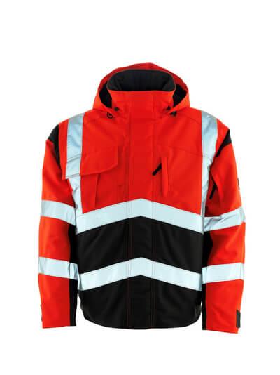 MASCOT® Camina Pilotjacke Größe 4XL, hi-vis rot/dunkelanthrazit
