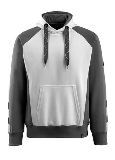 MASCOT® Regensburg Kapuzensweatshirt Größe 4XL, weiss/dunkelanthrazit