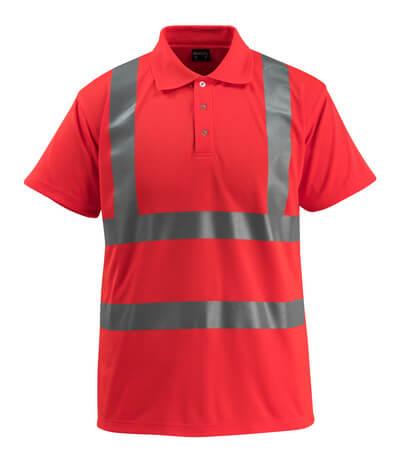 MASCOT® Bowen Polo-shirt Größe M, hi-vis rot