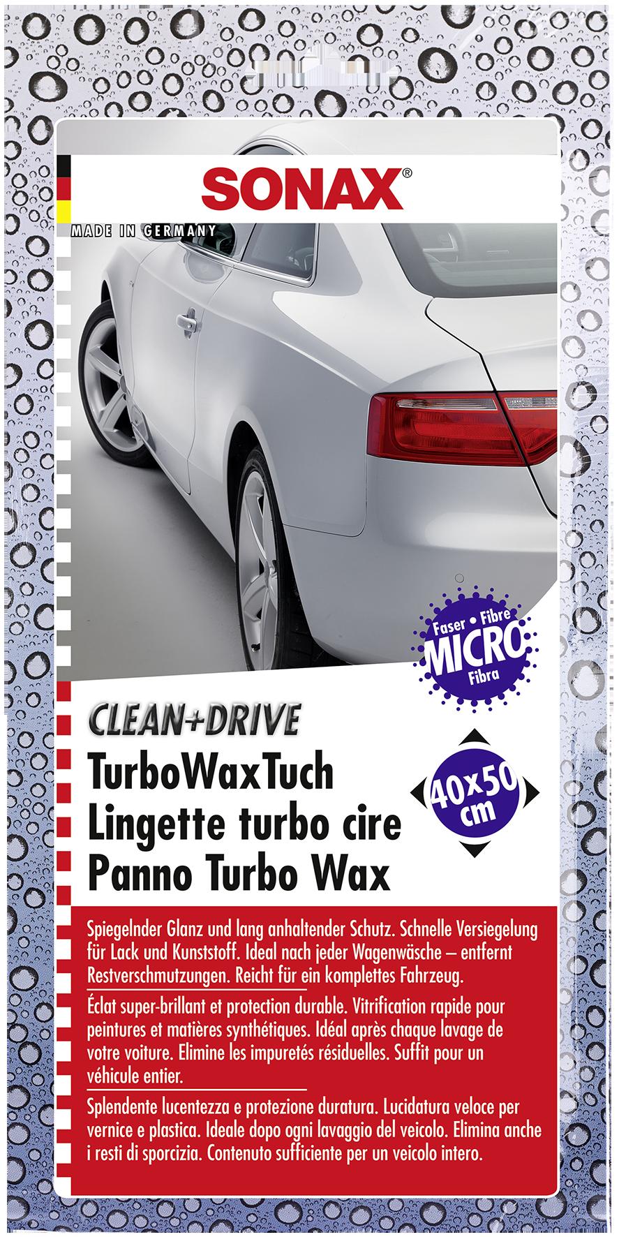 SONAX 04140000  Clean+Drive TurboWaxTuch 40x50 Thekendisplay 1 Stück
