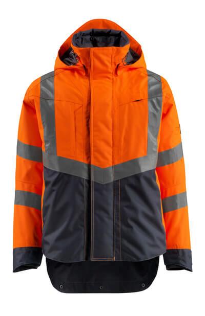 MASCOT® Harlow Jacke Größe M, hi-vis orange/schwarzblau
