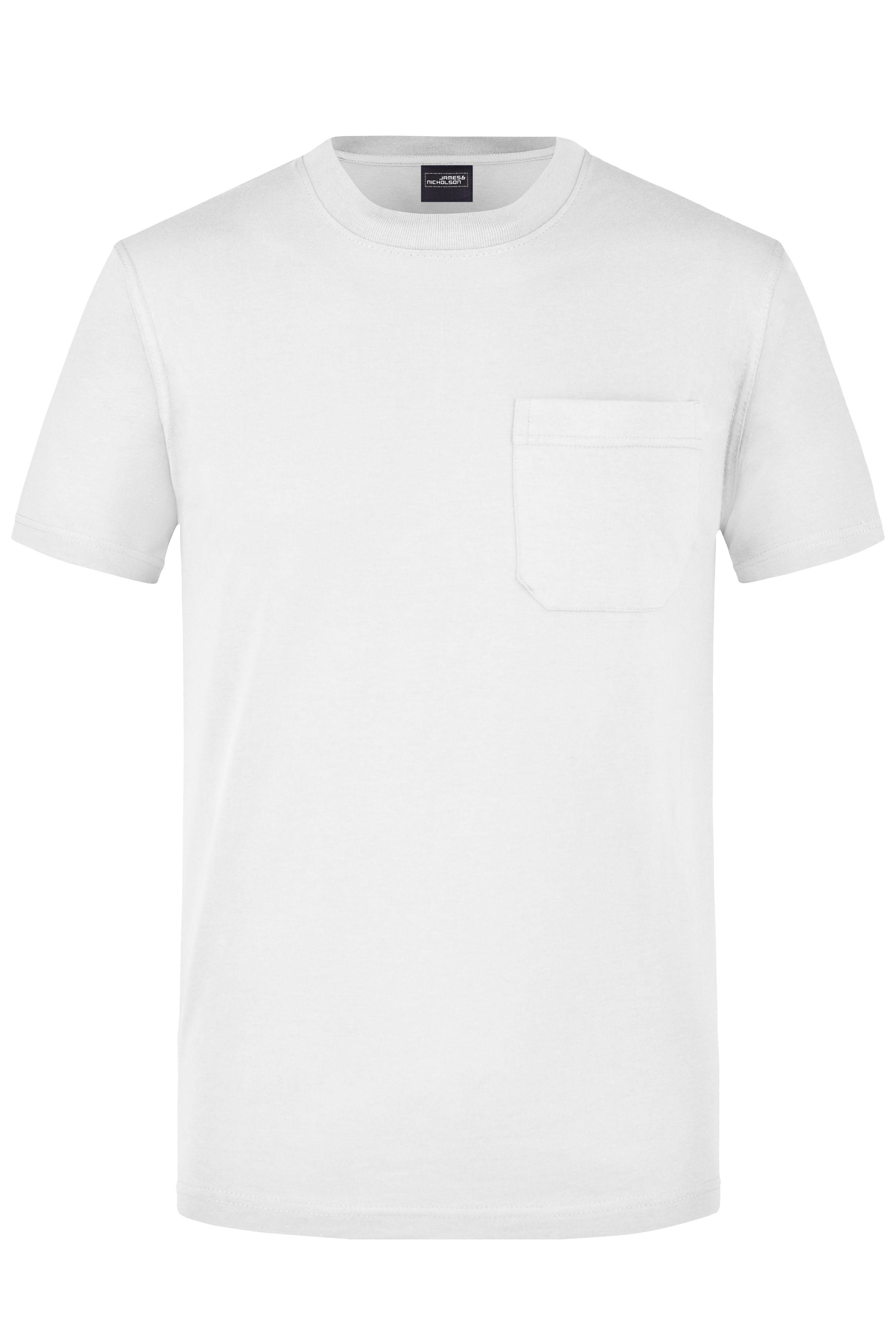 Klassisches T-Shirt mit Brusttasche