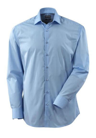 Hemd, Poplin, großzügige Passform  Größe 45-46, hellblau
