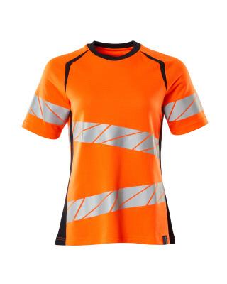T-Shirt, Damenpassform T-shirt Größe 3XLONE, hi-vis orange/schwarzblau