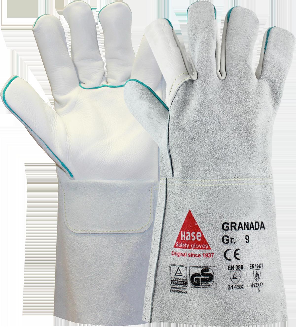 GRANADA K, Schweißerhandschuh aus Rindleder, Größe 10