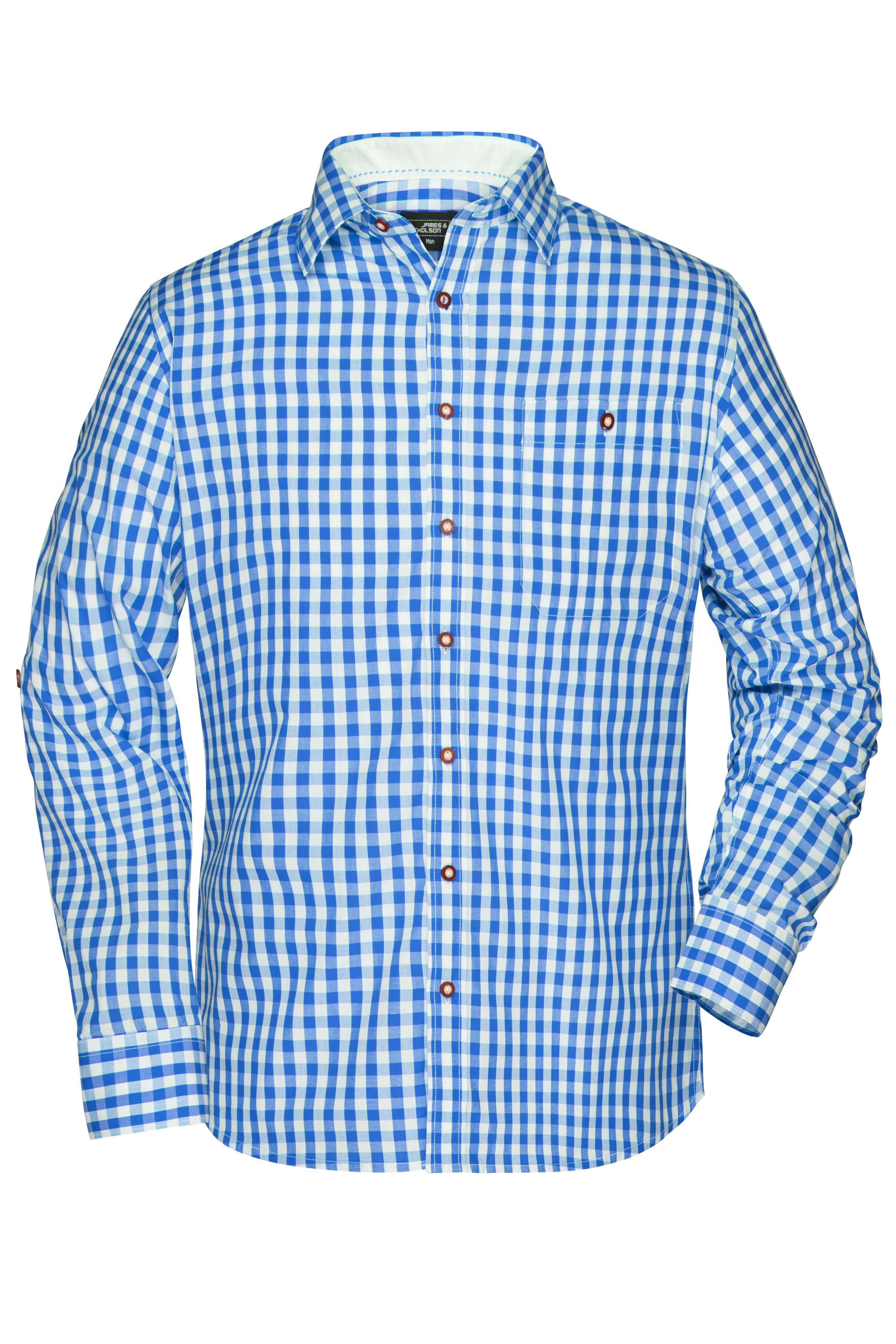 Damen-Bluse und Herren-Hemd im klassischen Trachtenlook