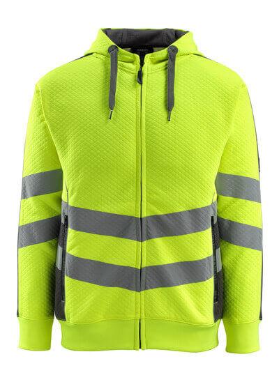 MASCOT® Corby Kapuzensweatshirt Größe 2XL, hi-vis gelb/dunkelanthrazit