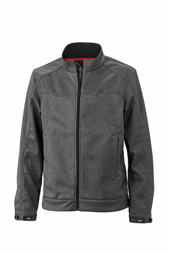 Klassische Softshell-Jacke in Melange-Optik