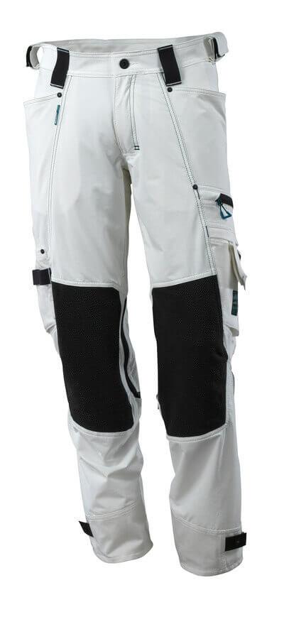 Hose mit Knietaschen aus Dyneema,Stretch Hose Größe 76C51, weiss