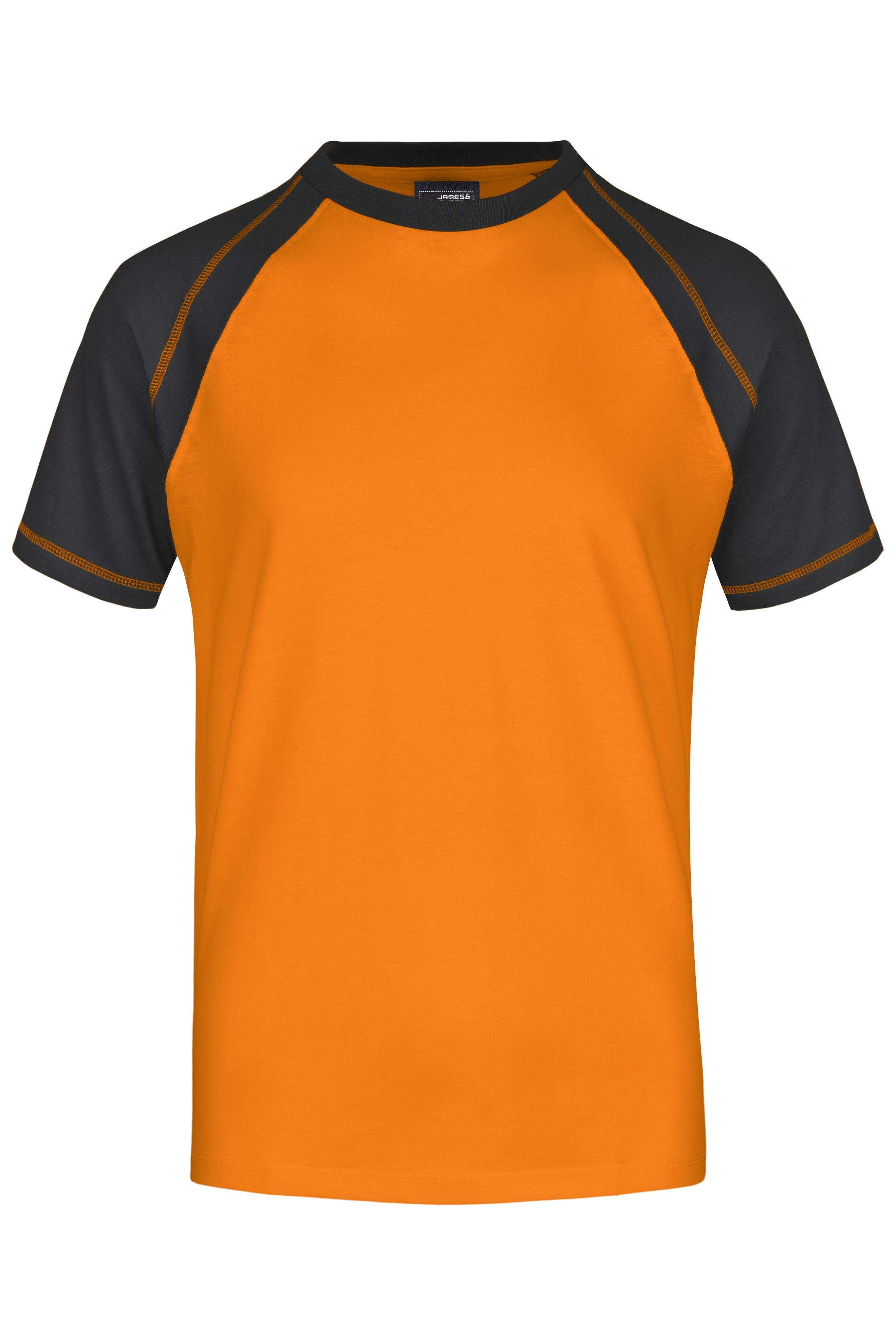 T-Shirt in sportlicher, zweifarbiger Optik