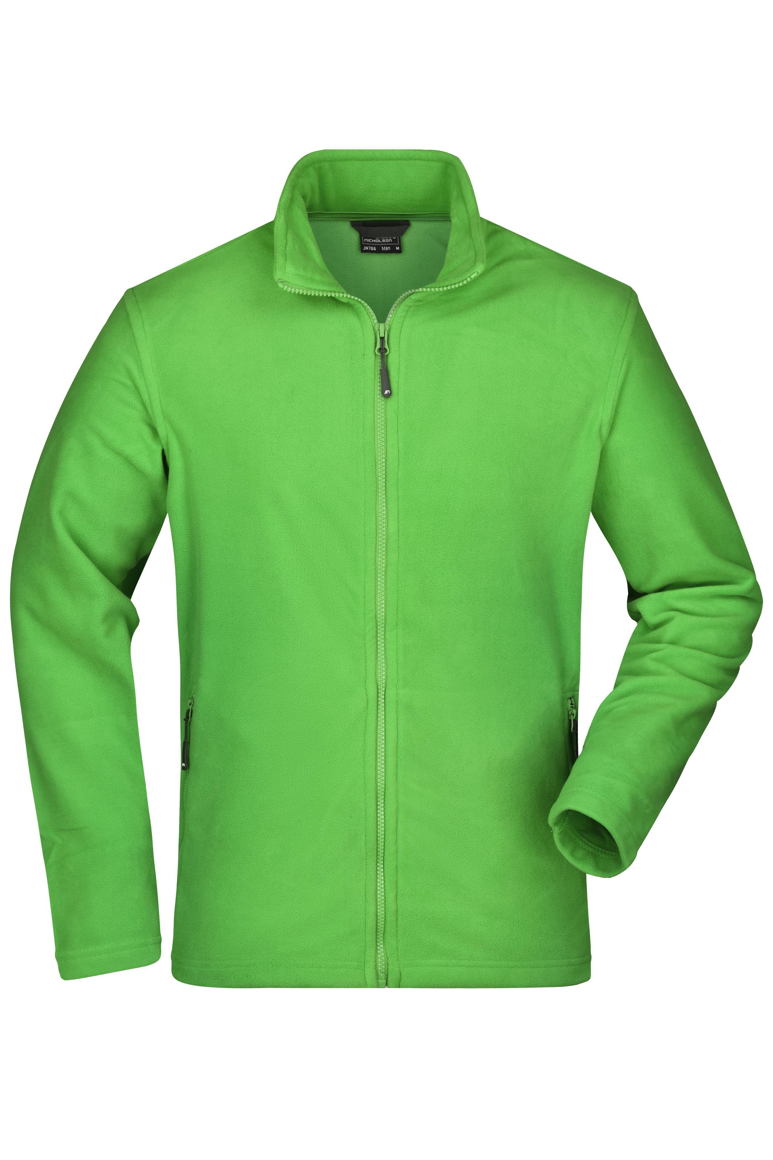 Klassische Fleece-Jacke mit Stehkragen