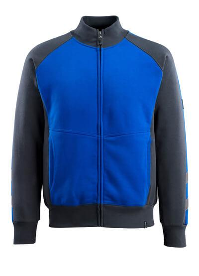 MASCOT® Amberg Sweatshirt mit Reißverschluss Größe XS, kornblau/schwarzblau