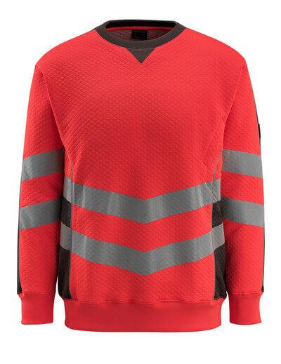 MASCOT® Wigton Sweatshirt Größe XL, hi-vis rot/dunkelanthrazit