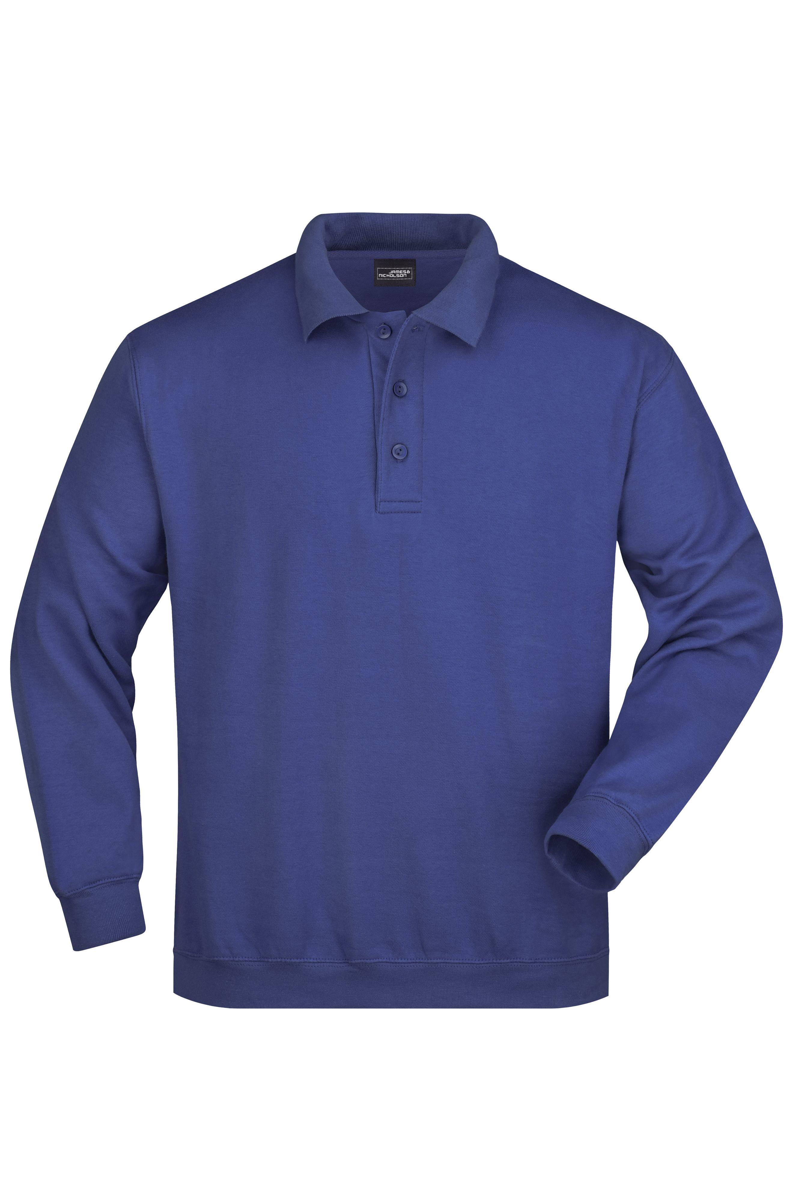 Klassisches Komfort Polo-Sweatshirt
