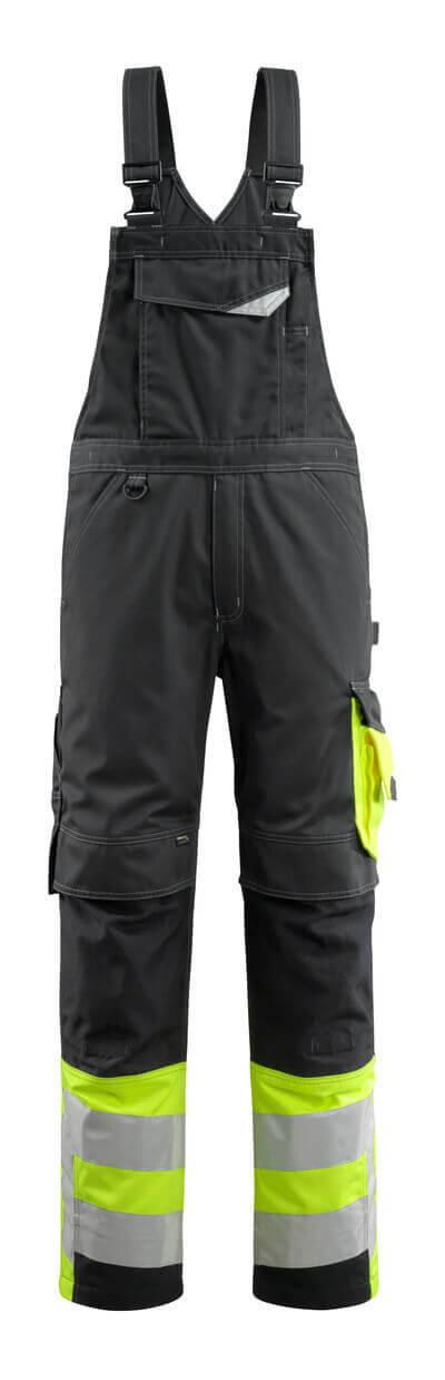 MASCOT® Sunderland Latzhose Größe 82C68, schwarz/hi-vis gelb