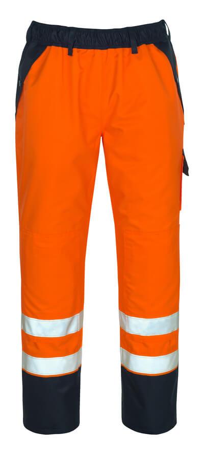 MASCOT® Linz Überziehhose Größe L, hi-vis orange/marine