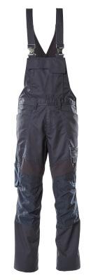 Latzhose, Knietaschen, Stretch-Einsätze Latzhose Größe 90C56, schwarzblau