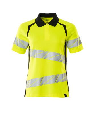 Polo-Shirt, Damenpassform Polo-shirt Größe XS ONE, hi-vis gelb/schwarz