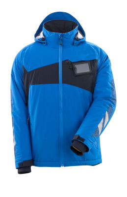 Winterjacke mit CLIMASCOT®, leicht Winterjacke Größe M, azurblau/schwarzblau