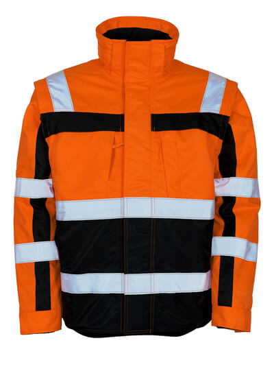 MASCOT® Loreto Winterjacke Größe 4XL, hi-vis orange/marine