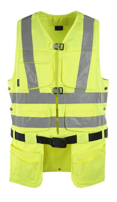 MASCOT® Yorkton Werkzeugweste Größe 2XL, hi-vis gelb
