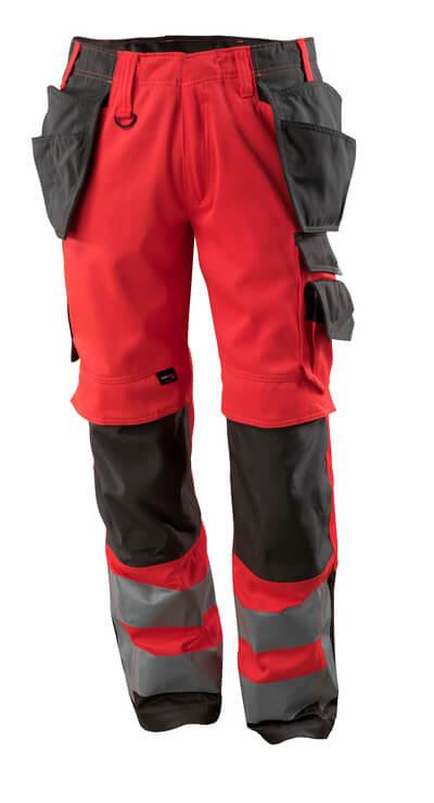 MASCOT® Wigan Handwerkerhose Größe 82C49, hi-vis rot/dunkelanthrazit