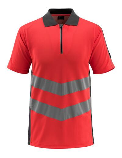 MASCOT® Murton Polo-shirt Größe M, hi-vis rot/dunkelanthrazit