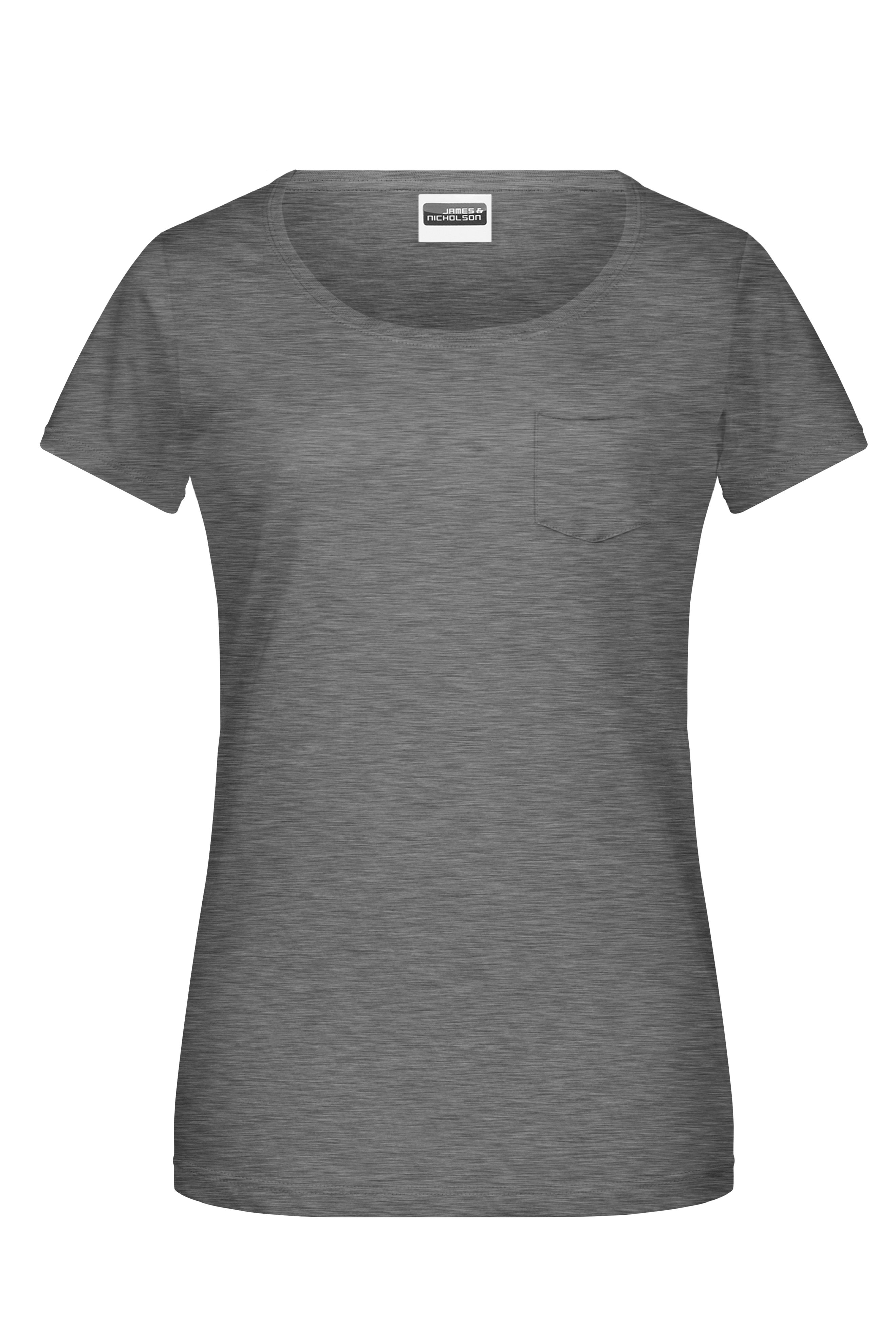Damen T-Shirt mit modischer Brusttasche