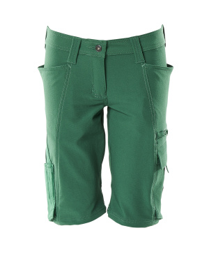 Shorts, Damenpassform, Pearl, Stretch Shorts Größe C46, grün