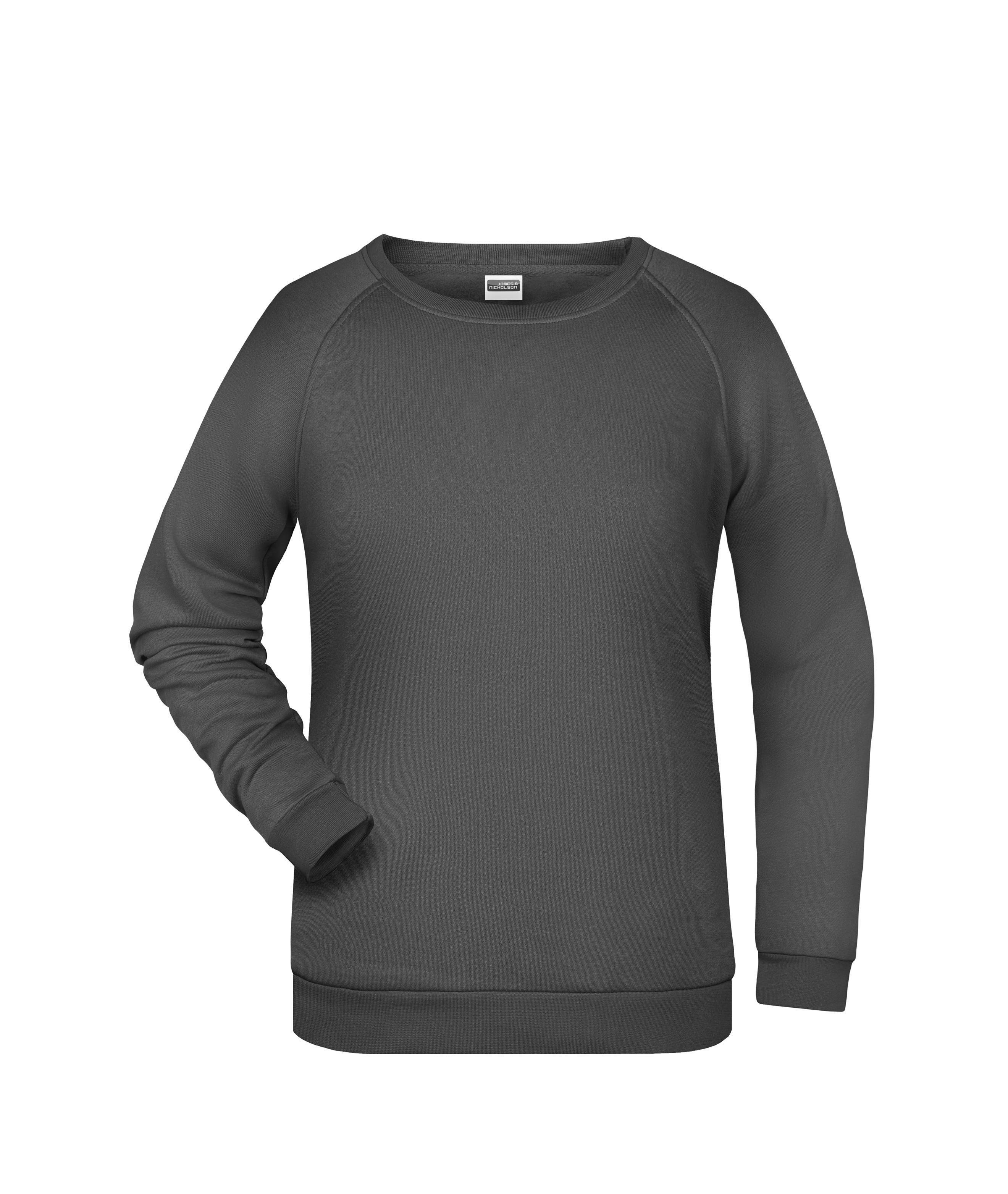 Rundhals-Sweatshirt mit Raglanärmeln für Damen