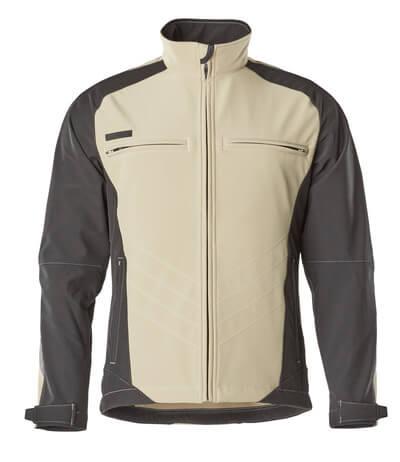 MASCOT® Dresden Soft Shell Jacke Größe M, hellkhaki/schwarz