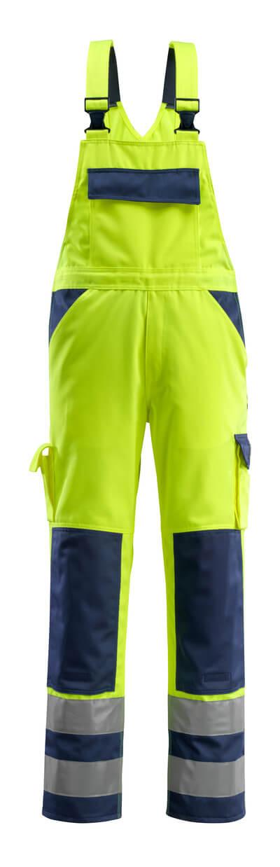 MASCOT® Barras Latzhose Größe 82C54, hi-vis gelb/marine
