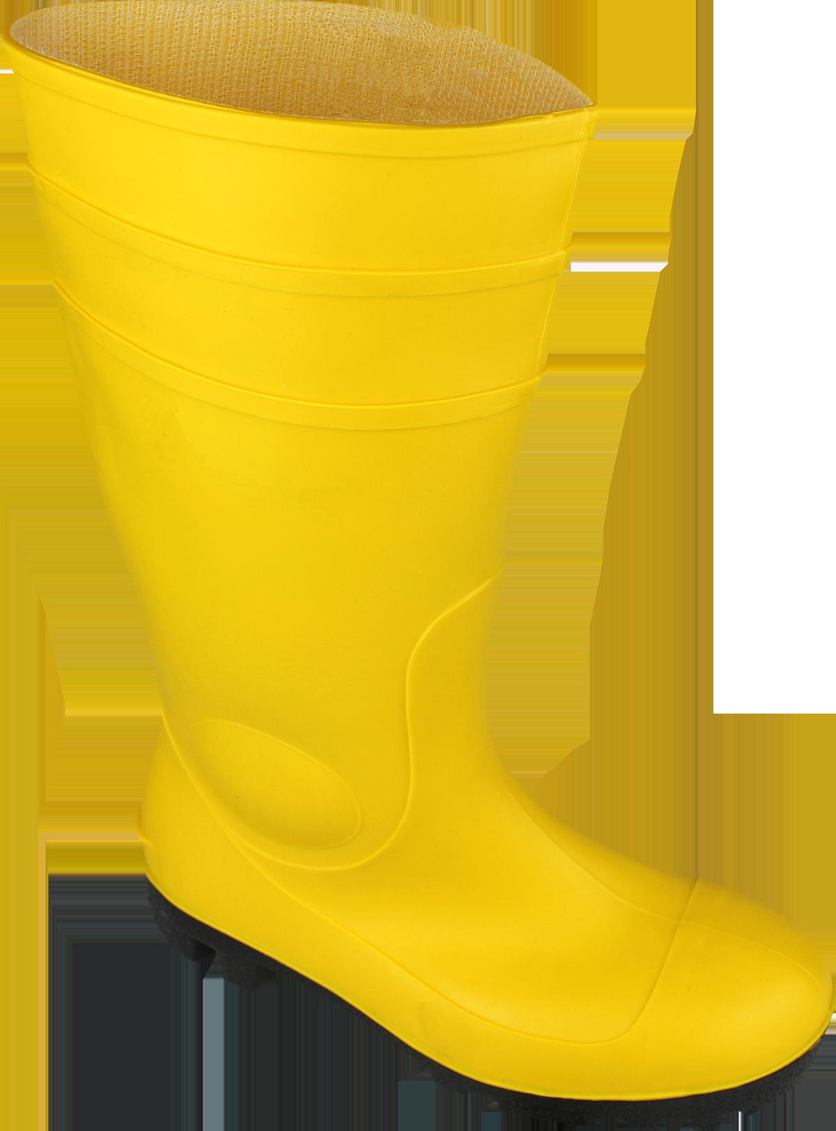 WIESMOOR S5 PVC-Stiefel gelb, EN ISO 20345, Größe 48