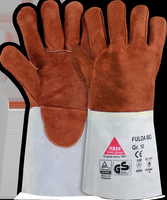 FULDA-ISO, Schweißerhandschuh aus Sebatanleder, Größe 10