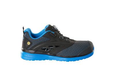 Sicherheitssandale S1P mit BOA® Sicherheitssandale S1P Sicherheitsschuhe Größe 1048, schwarz/kornblau