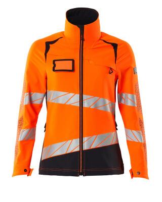 Jacke, Damen, 4-Wege-Stretch Arbeitsjacke Größe 3XL, hi-vis orange/moosgrün