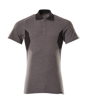 Polo-Shirt, moderne Passform Polo-shirt Größe L ONE, dunkelanthrazit/schwarz