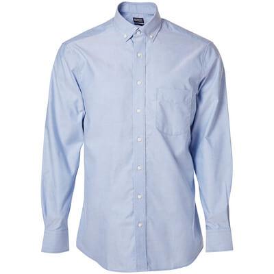 Hemd, Oxford, großzügige Passform  Größe 37-38, hellblau