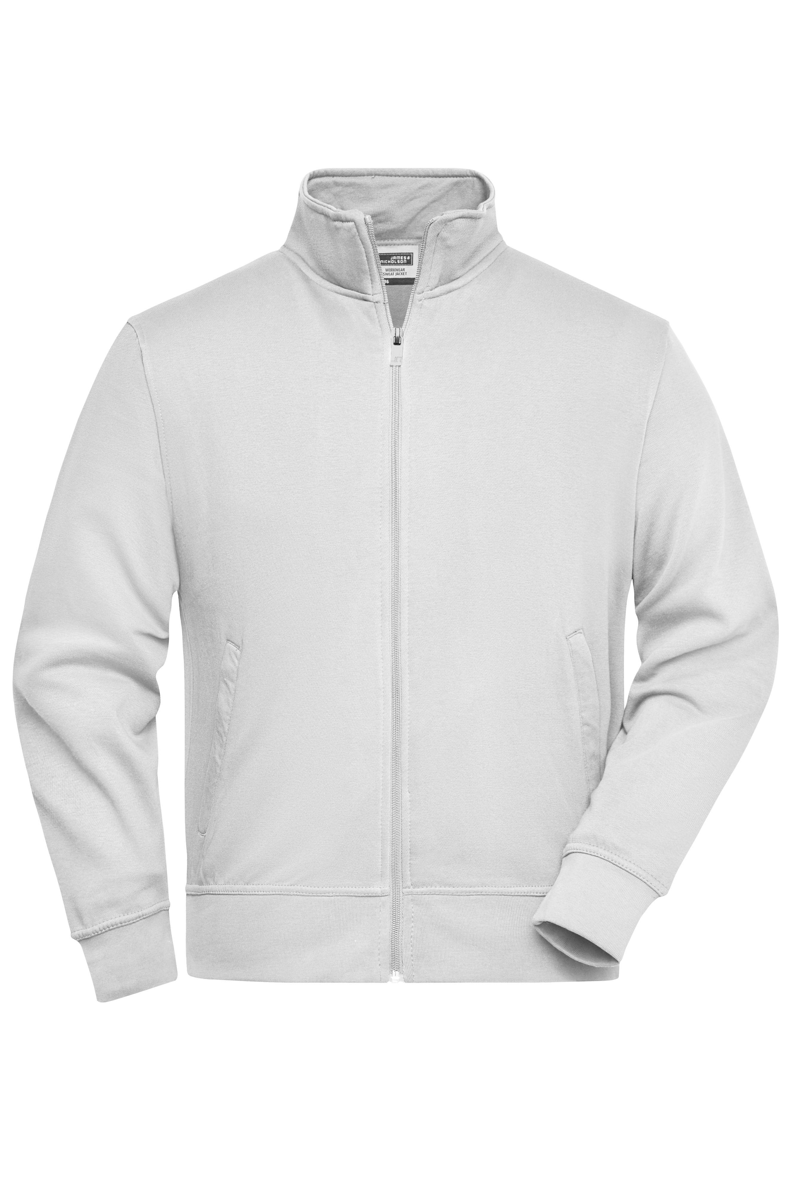 Sweat-Jacke mit Stehkragen und Reißverschluss