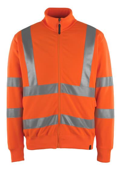 MASCOT® Maringa Sweatshirt mit Reißverschluss Größe XL, hi-vis orange
