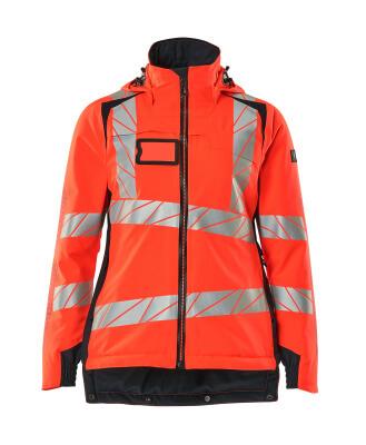 Winterjacke CLIMASCOT®, Damen Winterjacke Größe 5XL, Hi-vis rot/schwarzblau