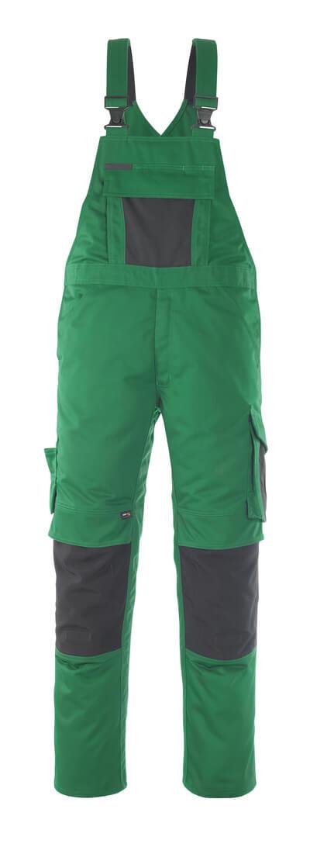MASCOT® Leipzig Latzhose Größe 76C56, grün/schwarz