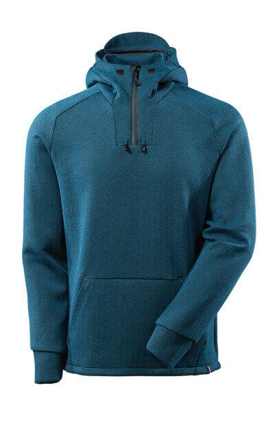 Kapuzensweatshirt, kurzem Reißverschluss Kapuzensweatshirt Größe 2XL, Dunkelpetroleum/ schwarz