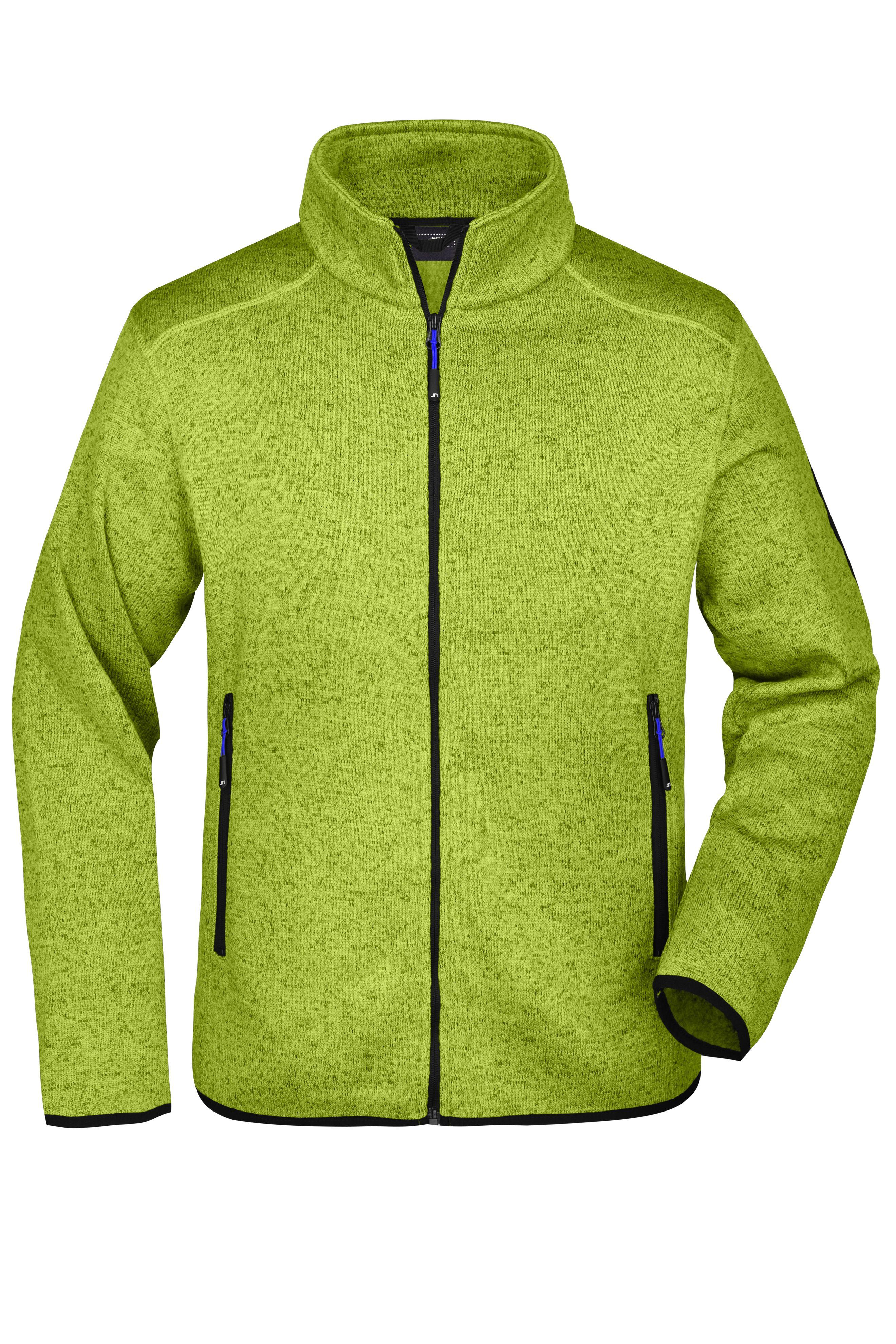 Modische Strickfleece Jacke mit Stehkragen