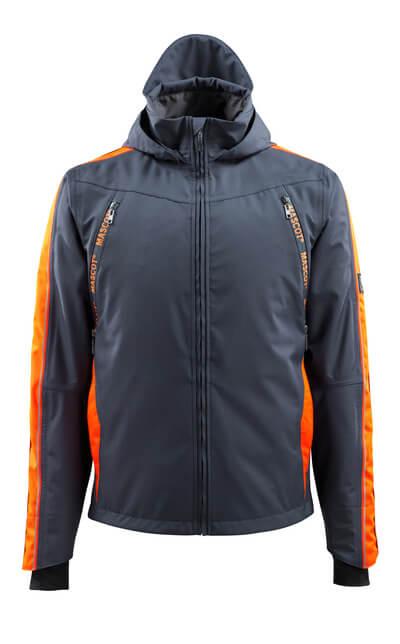 MASCOT® Gandia Jacke Größe 2XL, schwarzblau/hi-vis orange